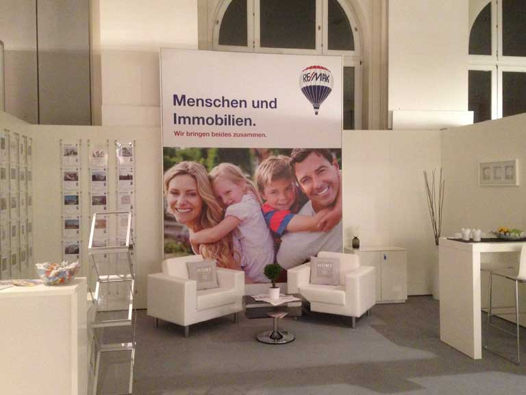 Messestand Immobilien